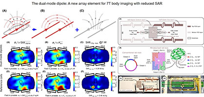 The dual‐mode dipole: A new array element for 7T body imaging with reduced SAR