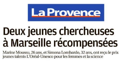 Article in La Provence Newspaper